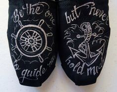 Wheel and Anchor TOMS. $120.00, via Etsy.