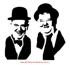 White Art, Black And White, Animal Stencil, Laurel And Hardy, Moon Painting, Stencil Patterns, Silhouette Art, Scroll Saw Patterns, Pyrography