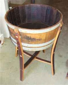 great outdoor idea. Wine barrel ice chest