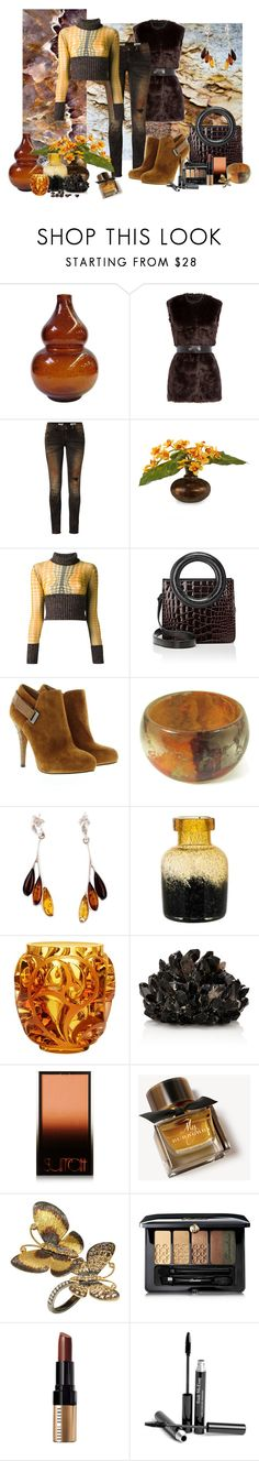 """Cropped Sweater"" by lily0906 ❤ liked on Polyvore featuring Karl Lagerfeld, Rich & Royal, John-Richard, Jean-Paul Gaultier, Opening Ceremony, GUESS, Be-Jewelled, Lalique, McCoy Design and Surratt"
