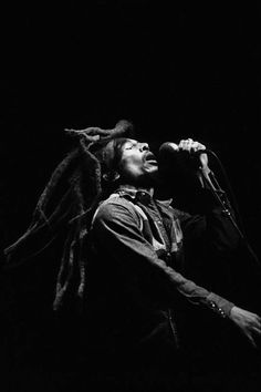 ♫♪ Music ♪♫ singing black & white photo