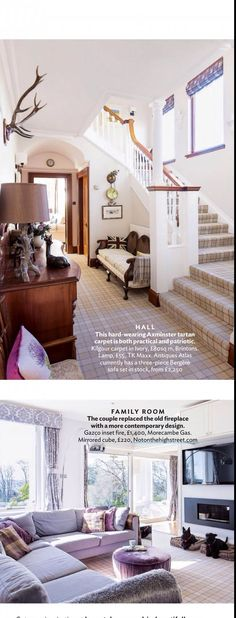 Love the tartan carpet in the hall