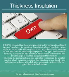 Thickness Insulation Calculation Calculator Software - Buy now ISOWTC Software for your thickness insulation.