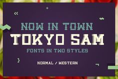 Tokyo Sam - Fonts in two styles. Fonts Tokyo Sam is a simple slab fonts in two styles, normal and western.Simple, clean, easy to use, stro by davidiscreative Cute Fonts, Pretty Fonts, Fancy Fonts, Beautiful Fonts, Slab Serif Fonts, Hand Lettering Fonts, Types Of Lettering, Lettering Design, Stylish Fonts