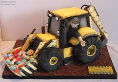 JCB cake - Cake by Mother and Me Creative Cakes https://www.facebook.com/pages/Mother-Me/227714550658081