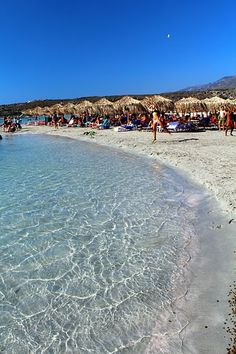 my favorite picture I took of Elafonisi beach in Crete