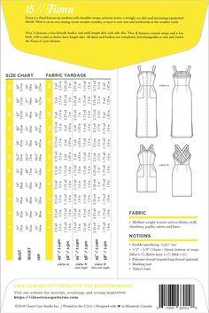 Fiona Sundress Pattern Envelope // Summer dress pattern with two bodice and three skirt options // Closet Case Patterns
