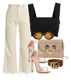 A fashion look from July 2017 featuring strappy top, cuffed jeans and Stuart Weitzman. Browse and shop related looks. Retro Outfits, Cute Casual Outfits, Stylish Outfits, Girl Outfits, Fashion Outfits, Look Fashion, Teen Fashion, Korean Fashion, Elegantes Outfit