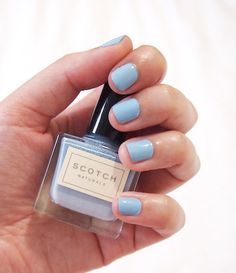 Scotch polish - Caleigh baby blue #nail #art