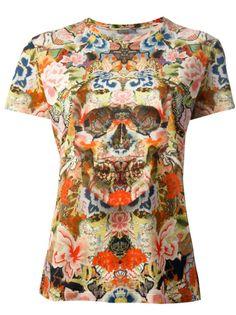 T-shirt ALEXANDER McQUEEN  #inthegarden #flowers #trend #woman à#apparel #accessories #style #fashion #spring #summer #collection #alexandermcqueen