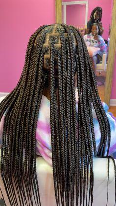 Bob Box Braids Styles, Box Braids Hairstyles For Black Women, Braids Hairstyles Pictures, Box Braids Styling, Kids Braided Hairstyles, African Braids Hairstyles, Braids For Black Hair, Weave Hairstyles, Protective Style Braids