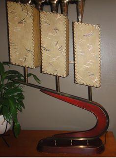 Majestic Lamp - triple shades.