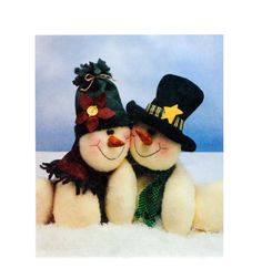 15 Melting Hearts Snow Couple McCalls 2442 by FindCraftyPatterns