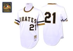 Clemente Jersey, Pittsburgh Pirates #21 M White MLB Jersey$20