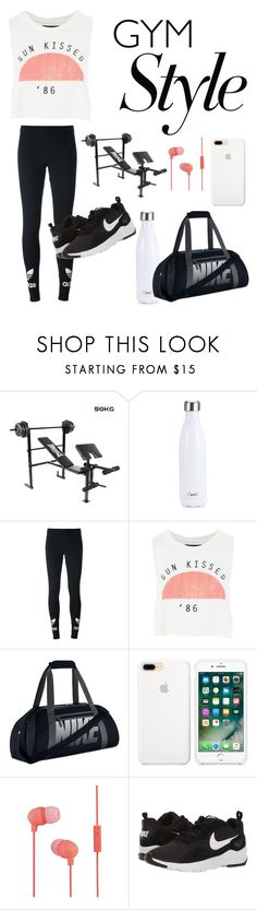 """Gym Style"" by narwhal-fashion ❤ liked on Polyvore featuring S'well, adidas Originals, Topshop, NIKE, The House of Marley and gymessentials"