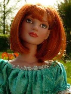 A beautiful pose in natural light.  OOAK redhead on Tonner Doll Duels