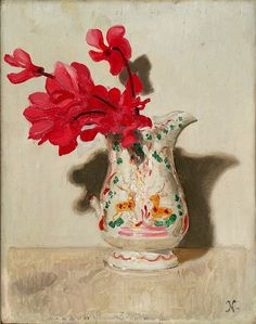 Nicholson, William (1872-1949) - 1937c. Cyclamen (The Courtland Institute of Art, London) by RasMarley, via Flickr