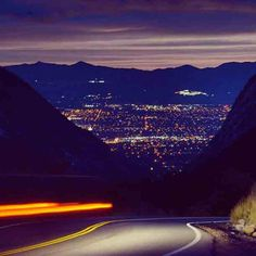 ~Salt Lake City from Little Cottonwood Canyon ~ Utah.... this is one of my favorites...the Canyon is beautiful and then you hit that open space and see the sparkling city..it really is amazing