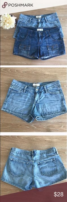 BUNDLE OF 2 PAIRS OLD NAVY JEAN SHORTS Includes two pairs of shorts. 💗Condition: EUC, barely used. No flaws, no rips, holes or stains. Size 2. Length:10.5 💗Smoke free home/Pet hair free 💗No trades, No returns 💗No modeling  💗Shipping next day. Beautiful package! 💗I LOVE OFFERS, offer me! 💗ALL ITEMS ARE OWNED BY ME. NOT FROM THRIFT STORES 💗All transactions video recorded to ensure quality.  💗Ask all questions before buying #125 Old Navy Shorts Jean Shorts