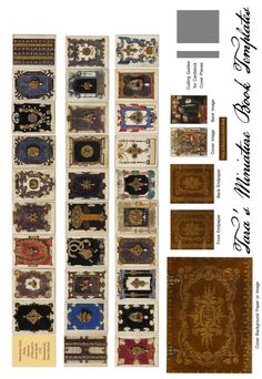 Free Miniature Book Printie with Plates from Anna of Bavaria's 16th Century Jewel Book