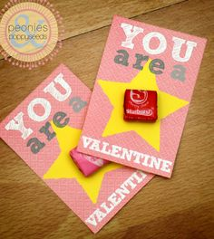 Free printable for card and bag topper! You are a star! doesn't have to be for valentine's day...could use for star testing!!
