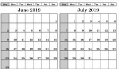 Check out Printable June July 2019 Calendar Monthly Templates, June And July 2019 Calendar PDF Word Excel Landscape Editable Blank Notes with Hoidays. July Calendar, 12 Month Calendar, Printable Blank Calendar, First Page, Printables, Templates, Words, Models, Print Templates