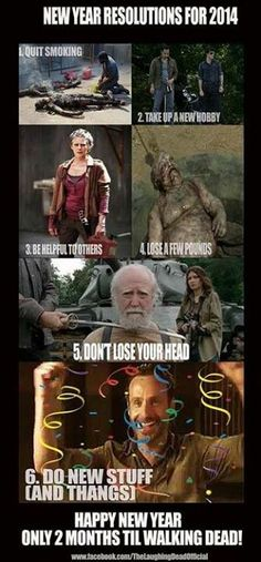 More New Year's Resolutions ~ The Walking Dead via www.facebook.com/thelaughingdeadofficial