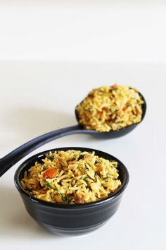 Methi rice recipe or methi pulao recipe with step by step photos - healthy rice dish made from fenugreek leaves and flavored with few basic spices. Rice Recipes Vegan, Vegetarian Recipes, Cooking Recipes, Healthy Recipes, Vegetarian Lunch, Vegan Food, Yummy Recipes, Indian Food Recipes, Asian Recipes