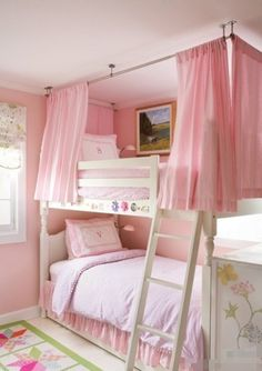 Such a cute idea for a girls room!