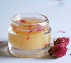 All natural rose body polish made with rose petals, natural sea salt, and olive oil.