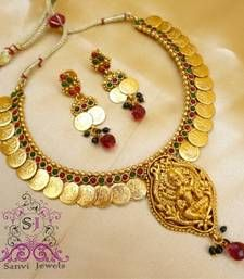 Indian Temple Jewellery Coin Necklace