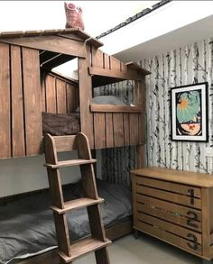 Bunk Beds Uk, Bunk Beds For Sale, Single Beds With Storage, Kids Beds With Storage, Tree House Bunk Bed, House Beds, Twin Bed Furniture, Solid Wood Bunk Beds, Play Beds