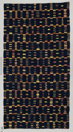 Africa | Chief's cloth, Bondoukou region | C. 20th century | 273 x 143 cm Musee du Quai Branly, Paris