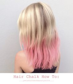 Yet another beauty site -hair chalk