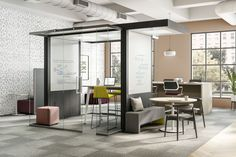 Adding office pods to your workplace can go a long way towards both collaboration and private work - but how do you know what pods you need and where they need to go? Open Floor Concept, Open Office, Office Spaces, Office Hub, Agency Office, Work Spaces, Office Pods, Community Space, Sustainable Furniture