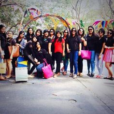 #WWNLSFStudents posing in front of the installation they created at the Kala Ghoda Arts Festival, 2015, Mumbai