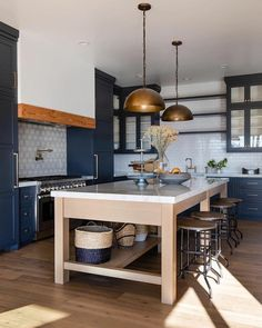 Kitchen Inspiration // Jamie Blessa DesignThe Perfect Scandinavian Style Home Kitchen Decor, Kitchen Inspirations, Kitchen, Kitchen Design, Shaker Style Kitchens, Kitchen Remodel, Trendy Kitchen, Blue Kitchen Decor, Kitchen Layout