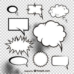 Comics Design Elements Vector  Free Vector Graphic Resources