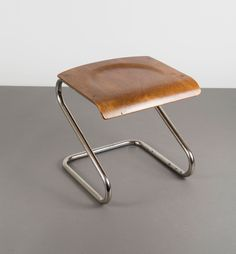 Chrome Plated Tubular Steel and Plywood Stool by Toma, Steel Furniture, Sofa Furniture, Kids Furniture, Modern Furniture, Furniture Design, Bauhaus Furniture, Furniture Stores, Cheap Furniture, Fire Pit Table And Chairs