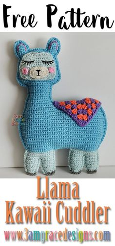 Llama Kawaii Cuddler™ | 3amgracedesigns Free Pattern