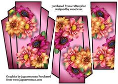- This lovely art deco style topper has two extra stacker layers to add depth. It features gorgeous dahlia flowers. Dahlia Flowers, Book Flowers, Vintage Sheet Music, Vintage Sheets, Paul Design, Paper Art, Paper Crafts, 3d Cards, Pastel Floral