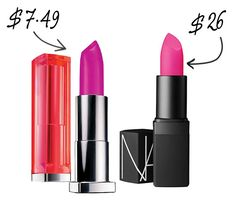 NARS Lipstick in Schiap and Maybelline Hot Plum