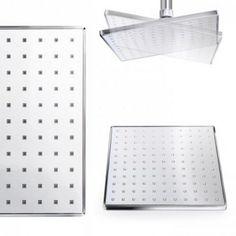 Square Thermostatic Concealed Valve with Rigid Riser Kit - : Platinum Taps & Bathrooms