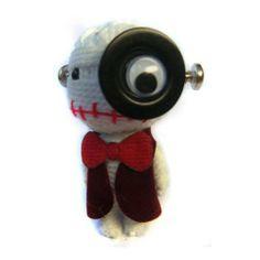 Thai handmade Tin Man  Wizard Oz Voodoo String Doll Keychain Ornament Accessory