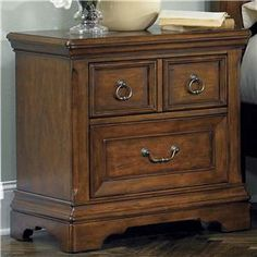 Liberty Furniture Laurelwood Night Stand - 547-BR61.  Beautiful bedroom nightstand that can be ordered. Love the details!