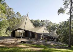 cross ventilation, tent roof, tent house, Spark Architecture