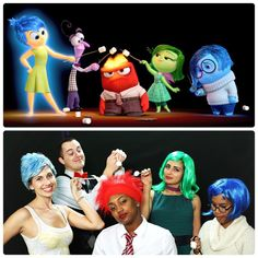 """""""Check out our group Halloween costume for the company party. We cosplayed as the emotions from one of my favorite films of the year, INSIDE OUT. Happy…"""""""