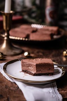 Holiday Baking   Chocolate Peppermint Mousse Bars — Rose & Ivy Layered Desserts, Holiday Baking, Christmas Desserts, Chocolate Cookies, Baking Chocolate, Chocolate Belga, Tasty, Yummy Food, Yummy Recipes