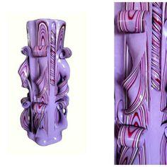 Bougie sculptée (25 cm) ,bougie artisanale,bougie fait main,bougie décorative