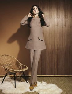 Taupe Dress suit? Wow 70's.   ~Chloe Monroe